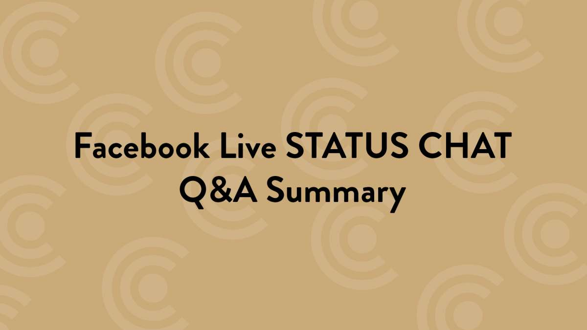 FB Live Status Chat Summary